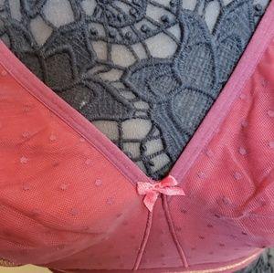 Cacique Intimates & Sleepwear - Beautiful burgundy angel gold bra from lane Bryant